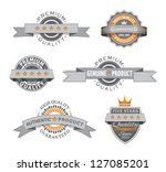 premium and high quality retro... | Shutterstock .eps vector #127085201