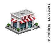 3d illustration of shop | Shutterstock . vector #1270866061
