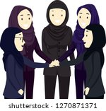 illustration of muslim girls... | Shutterstock .eps vector #1270871371