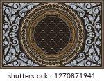 decorative ornate retro design | Shutterstock .eps vector #1270871941
