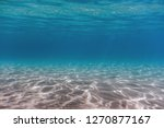 Sandy Sea Bottom Underwater...