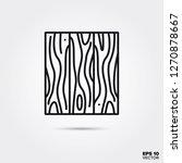 hardwood flooring line icon...   Shutterstock .eps vector #1270878667