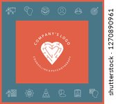 logotype   a heart with the... | Shutterstock .eps vector #1270890961