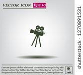 video camera icon vector | Shutterstock .eps vector #1270891531