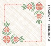 cross stitch embroidery in... | Shutterstock .eps vector #127089335