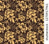 flower vintage vector seamless ...   Shutterstock .eps vector #1270917961