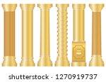 antique column  a collection of ... | Shutterstock .eps vector #1270919737