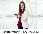 young business woman with a...   Shutterstock . vector #1270932061