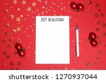 notebook with pen for writing... | Shutterstock . vector #1270937044