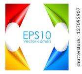 vector paper corners | Shutterstock .eps vector #127093907