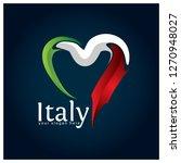 Italy Flag Heart Stock Vector....