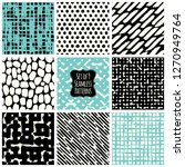 set with simple abstract... | Shutterstock .eps vector #1270949764