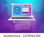 secure authorization  system... | Shutterstock .eps vector #1270961104