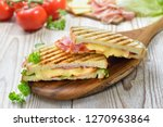 grilled and pressed toast with... | Shutterstock . vector #1270963864