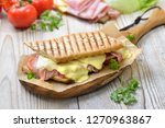 grilled and pressed toast with...   Shutterstock . vector #1270963867