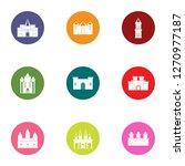 framework icons set. flat set... | Shutterstock . vector #1270977187