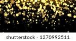 gold blurred banner on black... | Shutterstock .eps vector #1270992511