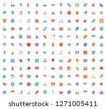 collection of flat summer icons   Shutterstock .eps vector #1271005411