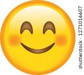 emoji. smiling face. happy.... | Shutterstock .eps vector #1271016607