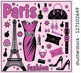 paris fashion set. vector   Shutterstock .eps vector #127102649