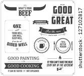 set of restaurant menu... | Shutterstock .eps vector #127102817