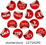 labels badges and stickers with ... | Shutterstock .eps vector #12710290