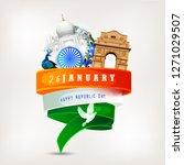 republic day india celebration... | Shutterstock .eps vector #1271029507