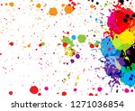 abstract vector color...   Shutterstock .eps vector #1271036854