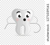 cute tooth with floss icon.... | Shutterstock .eps vector #1271039161