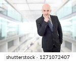 happy business man thinking  at ...   Shutterstock . vector #1271072407