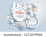 abstract winter design with... | Shutterstock .eps vector #1271079904