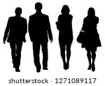 couple of young guy and girl on ... | Shutterstock . vector #1271089117