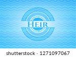 heir light blue water wave... | Shutterstock .eps vector #1271097067