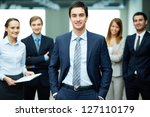 group of friendly... | Shutterstock . vector #127110179