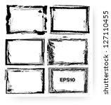 set of vector grunge frames | Shutterstock .eps vector #127110455