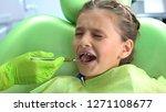 cute preschool girl scared of...   Shutterstock . vector #1271108677