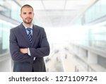 happy business man portrait at...   Shutterstock . vector #1271109724