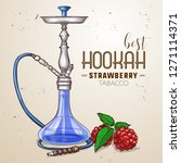 hand drawn hookah with... | Shutterstock . vector #1271114371