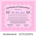 pink awesome certificate... | Shutterstock .eps vector #1271123191