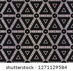 floral geometric pattern.... | Shutterstock .eps vector #1271129584