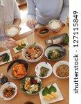 eat in the morning  | Shutterstock . vector #127115849