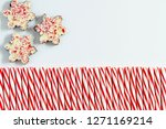 background of three chocolate... | Shutterstock . vector #1271169214