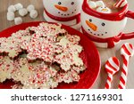 backround of snowflake shaped... | Shutterstock . vector #1271169301