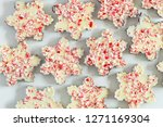 background of chocolate... | Shutterstock . vector #1271169304