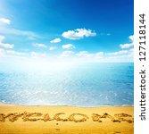 Beauty Seascape. Word Welcome...