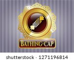 gold badge or emblem with... | Shutterstock .eps vector #1271196814