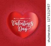 happy valentines day typography ... | Shutterstock .eps vector #1271212957