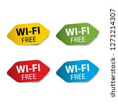 wi fi free colorful label  sign ... | Shutterstock .eps vector #1271214307