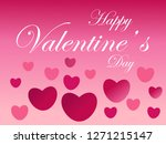 happy valentines day greeting... | Shutterstock .eps vector #1271215147
