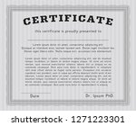 grey certificate diploma or... | Shutterstock .eps vector #1271223301